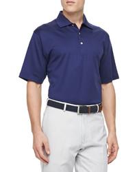 Peter Millar Short Sleeve Polo Navy