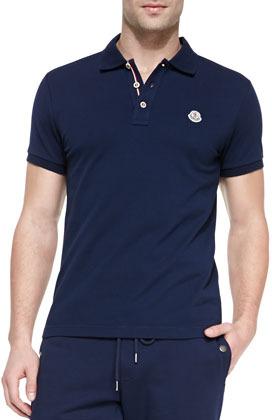 moncler navy blue polo