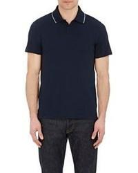Barneys New York Pique Polo Shirt Blue Size M