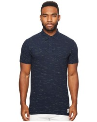 Scotch & Soda Polo In Melange Pique Quality With Subtle Damagings Clothing