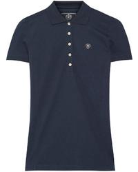 Prix cotton blend piqu polo shirt navy medium 442629