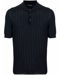 Tagliatore Ribbed Knit Polo Shirt