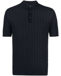 Tagliatore Ribbed Short Sleeve Polo Shirt