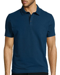 Claiborne Short Sleeve Slim Fit Solid Polo