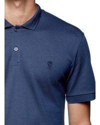 Nobrand Skull Logo Embroidery Piqu Polo Shirt 380 Lane Crawford