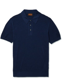 Tod's Slim Fit Knitted Silk Polo Shirt