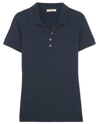 Burberry Stretch Cotton Piqu Polo Shirt Midnight Blue