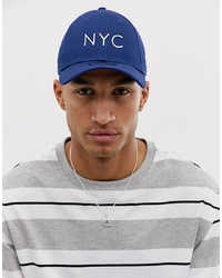 New Era 9forty Nyc Adjustable Cap In Royal Blue