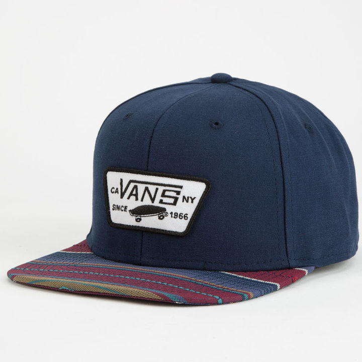 41f0925cc36cf ... Print Baseball Caps Vans All Over It Full Patch Snapback Hat ...
