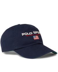 Polo Ralph Lauren Logo Embroidered Cotton Twill Baseball Cap