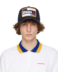 DSQUARED2 Navy Canada Patch Cap