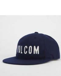 Volcom Puffed Snapback Hat Navy One Size For 228996210