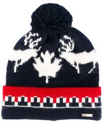 DSQUARED2 Intarsia Pompom Beanie Hat