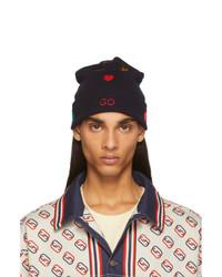 Gucci Navy Symbols Beanie