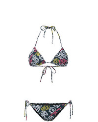 Mary Katrantzou Queens Teal Bikini Set
