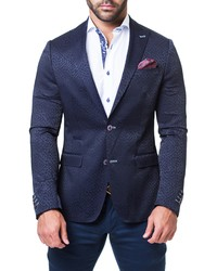 Maceoo Andaz Regular Fit Jacquard Blazer