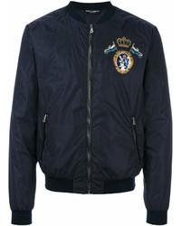Dolce & Gabbana Crest Embroidered Bomber Jacket
