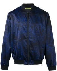 Versace Jeans Duchesse Techno Baroque Print Bomber Jacket