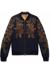 Reversible embroidered cotton twill bomber jacket medium 6979149