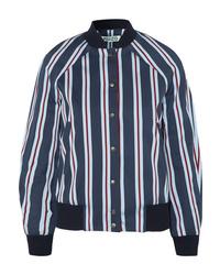 Kenzo Striped Cotton Blend Bomber Jacket