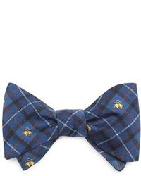 Navy Print Bow-tie