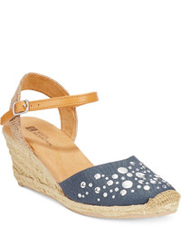 White Mountain Solar Espadrille Wedge Sandals