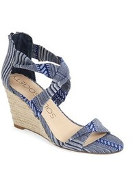 Sole Society Meika Crisscross Strap Espadrille Wedge