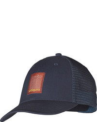 Patagonia Linear Evolution Lopro Trucker Hat Navy Blue Baseball Caps
