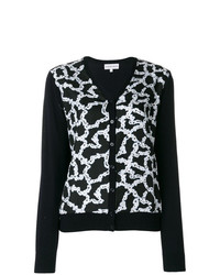 Carven Patterned V Neck Cardigan
