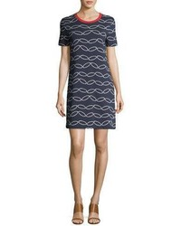Tory Burch Michla Short Sleeve Printed T Shirt Dress