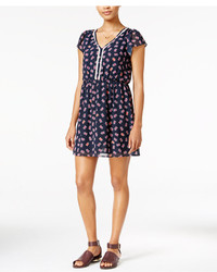 Maison Jules Printed Crochet Trim Fit Flare Dress Only At Macys