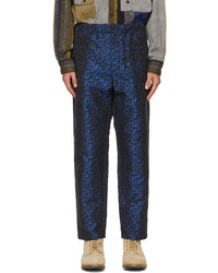Engineered Garments Black Blue Jacquard Trousers