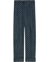 Gucci Gg Pattern Tailored Cut Jeans