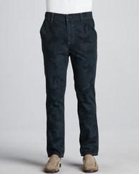 Joe's Jeans Rodney Camo Print Pants Navy