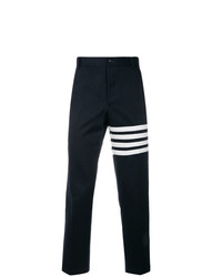 Thom Browne Seamed 4 Bar Stripe Unconstructed Chino Trouser In Cotton Twill