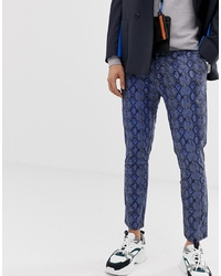 ASOS DESIGN Skinny Cropped Trousers In Snake Print