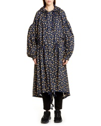 Undercover Floral Print Puff Sleeve Coat