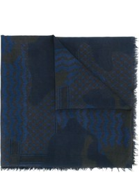 Neil Barrett Patchwork Print Scarf
