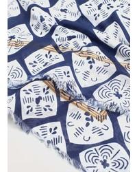 Printed cotton scarf medium 5025813