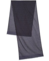 Hugo Boss Printed Cotton Scarf