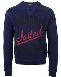 Navy Print Crew-neck Sweater