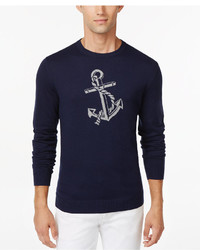 Club Room Anchor Crew Neck Sweater Only At Macys