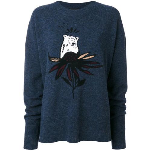 Markus Lupfer Bear Motif Sweater