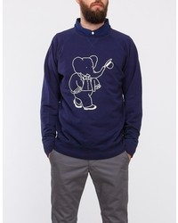 Soulland Big Babar Sweat In Navy