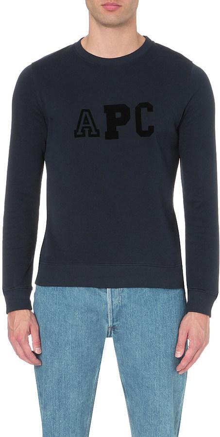 A.P.C. College Jersey Sweatshirt