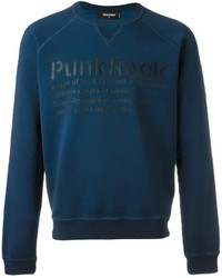 DSQUARED2 Punk Rock Print Sweatshirt