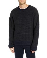 Vince Fair Isle Reversible Yak Wool Sweater