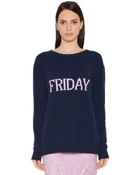 Alberta Ferretti Friday Wool Cashmere Knit Sweater