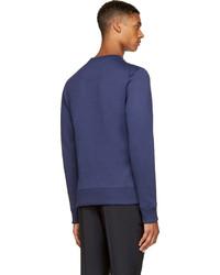 3498f6be Kenzo Gold Navy Eiffel Tower Sweatshirt, $375 | SSENSE | Lookastic.com