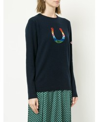 Bella Freud Horseshoe Print Sweater